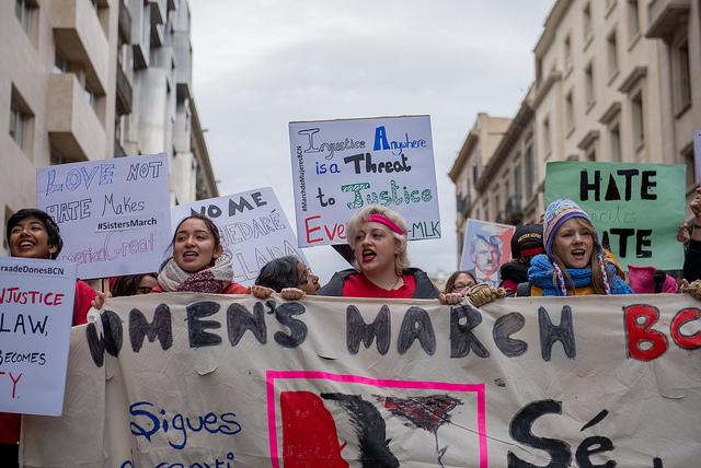 Le monde entier a manifesté contre Trump, samedi 21 janvier. / Photo CC Ilias Bartolini.