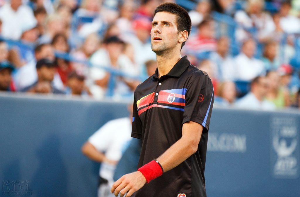 Novak Djokovic lors de l'US Open. Crédit photo : Flickr