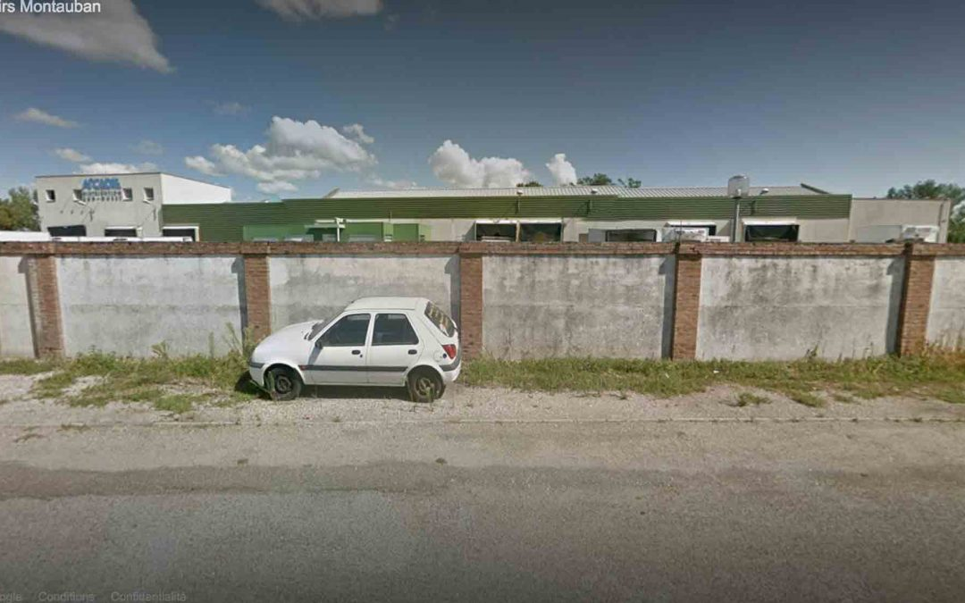 Capture d'écran google street view, abattoir de Montauban.