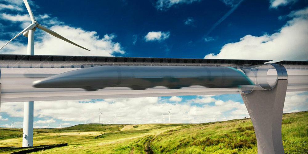 En image de synthèse, ce à quoi pourrait ressembler l'Hyperloop toulousain./Photo HTT