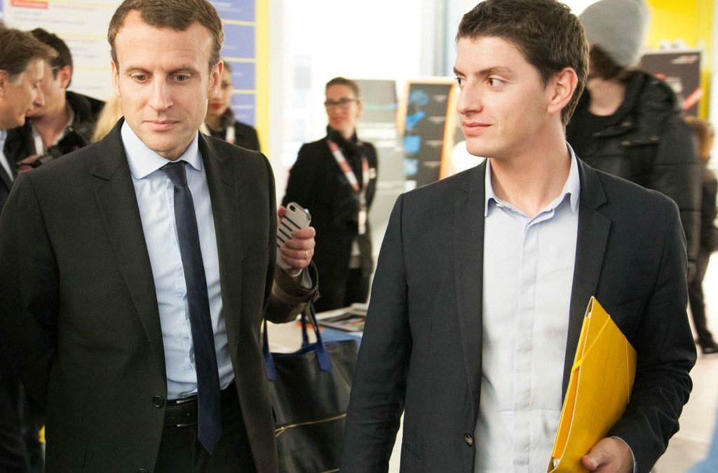 Mickaël Nogal (à droite), référent du mouvement En Marche ! en Haute-garonne. Photo MN