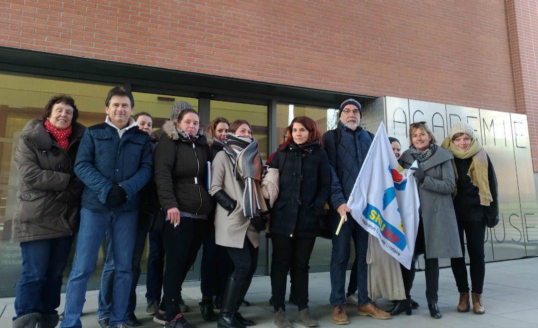 Le syndicat d'enseignants remplaçants a été reçu au Rectorat./ Photo FD