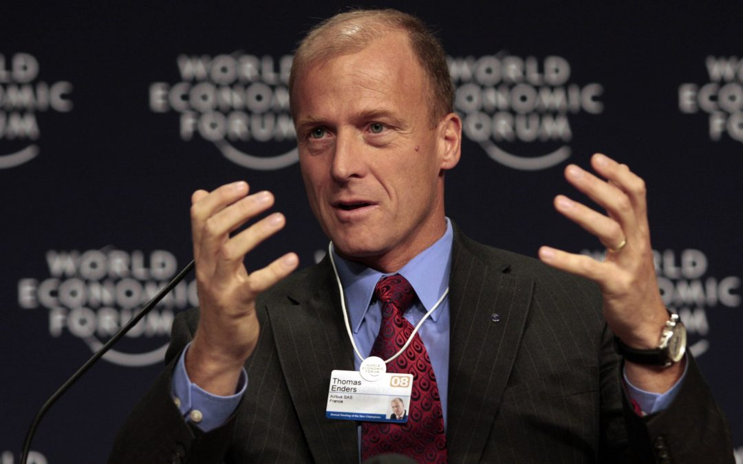 TIANJIN/CHINA, 26SEPT08 - World Economic Forum Annual Meeting of the New Champions summit mentor Thomas Enders, Chief Executive Officer of Airbus SAS, speaks during a press conference in Tianjin, China 26 September 2008.  Copyright World Economic Forum (www.weforum.org)/Photo by Natalie Behring