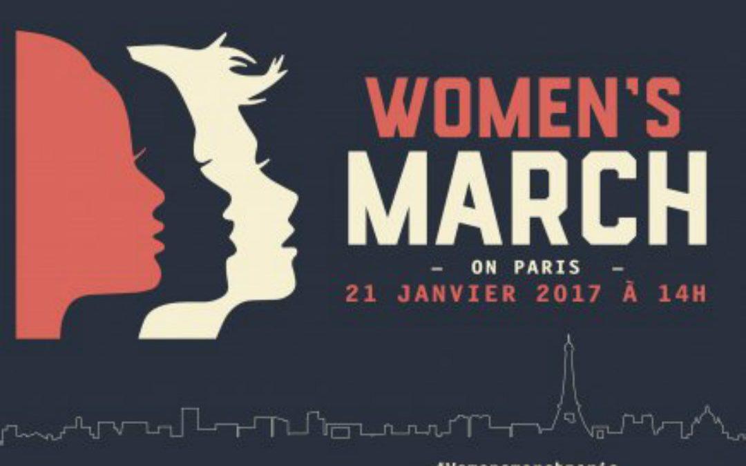 Des marches féministes anti-trump sont prévues dans 57 pays./ Affiche de l'évènement