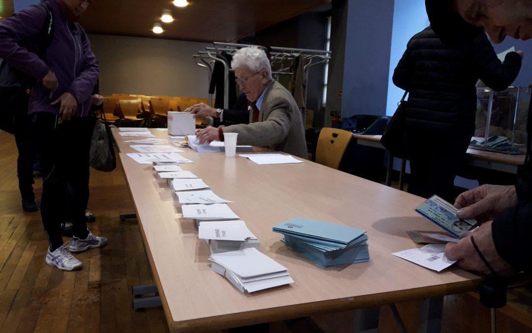 Bureau de vote de la salle Antoine-Osète à Toulouse./photo: Alan Bernigaud