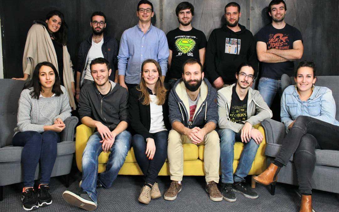 L'équipe de la jeune start-up Catspad. / Catspad