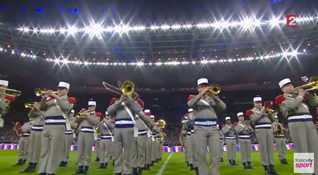 Hymnes lors des 6 Nations./Capture d'écran