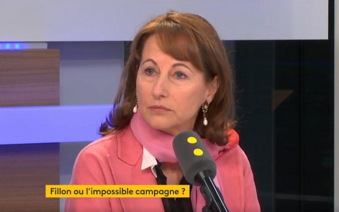Ségolène Royal invitée sur France Info./Capture d'écran France Info