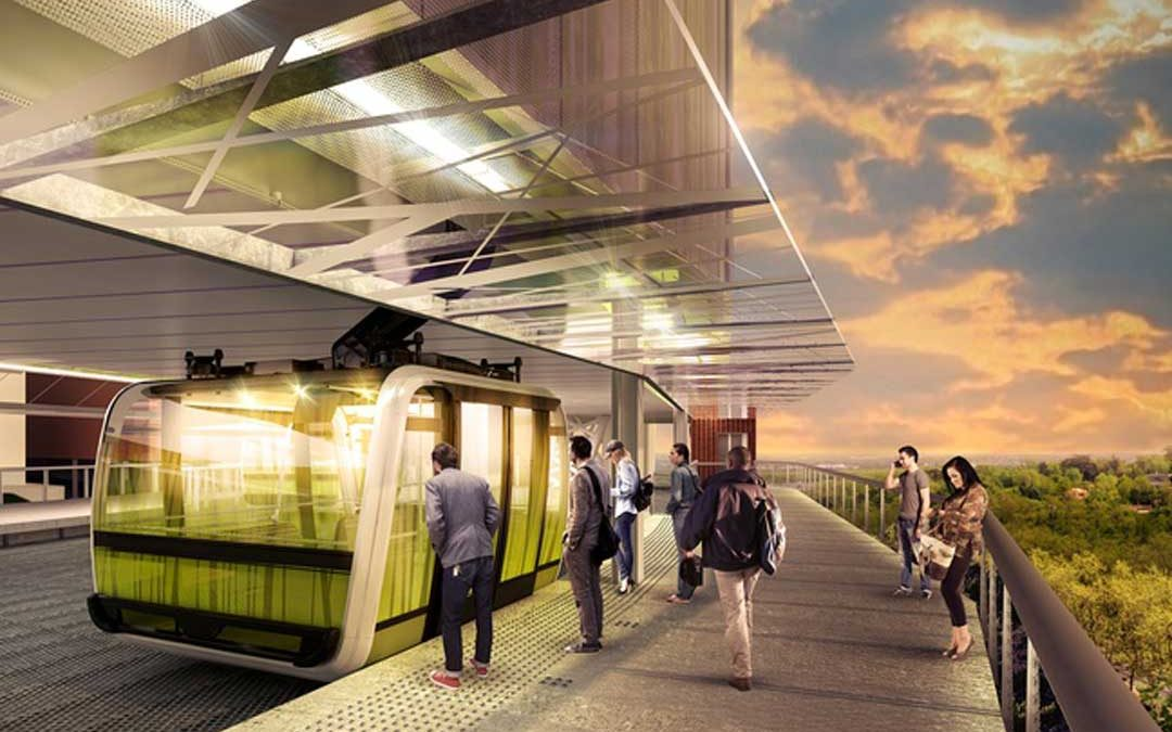 Le téléphérique urbain devrait être opérationnel d'ici 2020./ Photo : Poma