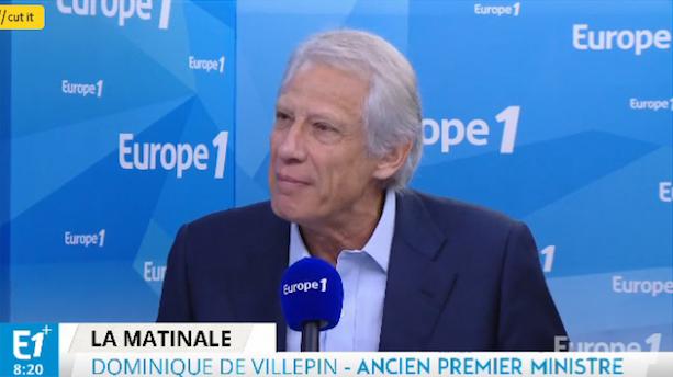 Dominique de Villepin était l'invité politique d'Europe 1./Capture d'écran Europe 1