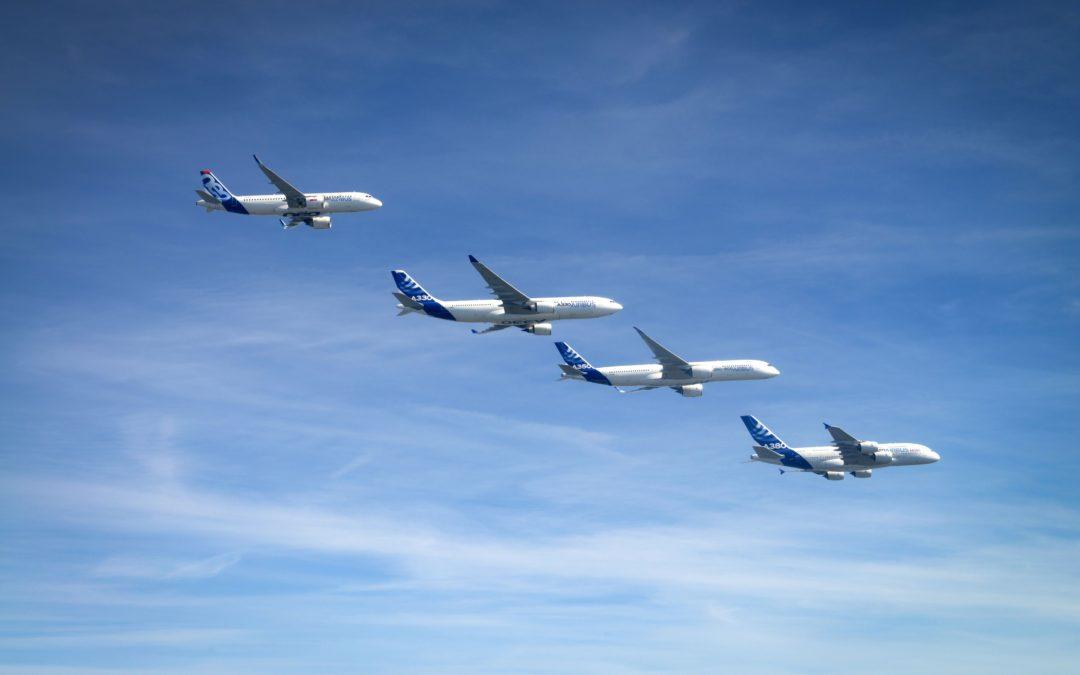 Flotte d'Airbus.