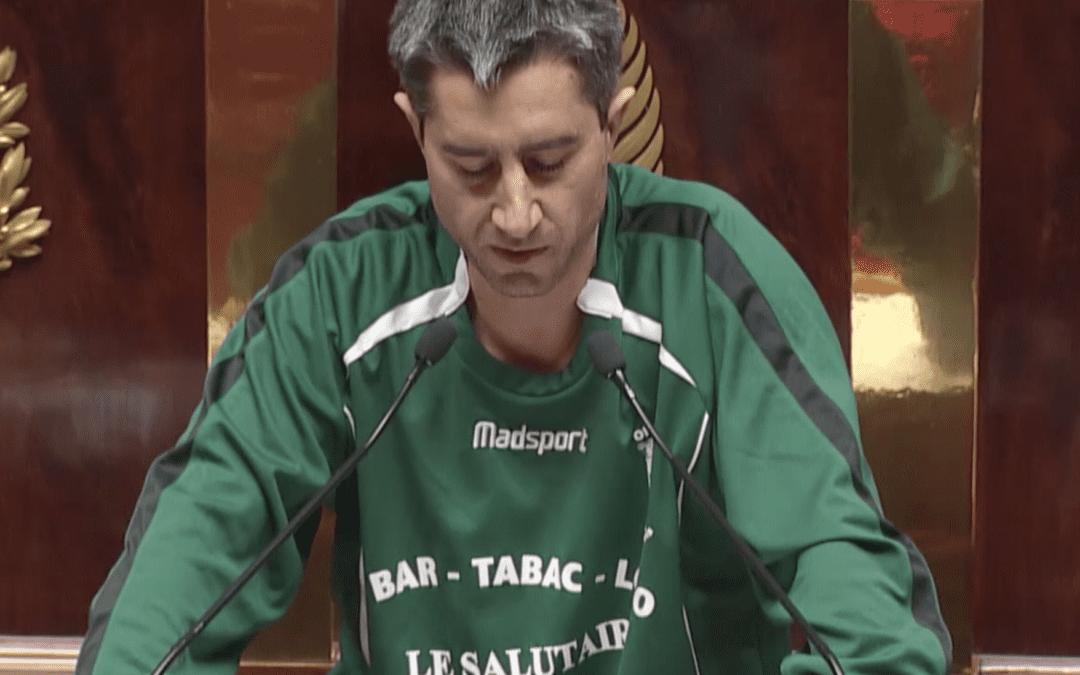 Francois Ruffin, député La France Insoumise avait porté un maillot de football le 7 décembre dernier. CP : Capture d'écran Assemblée nationale