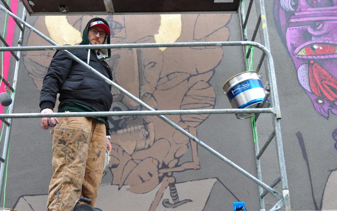 La commande de cette fresque sera livrée fin janvier. Crédit photo : Léo Rebeyrol