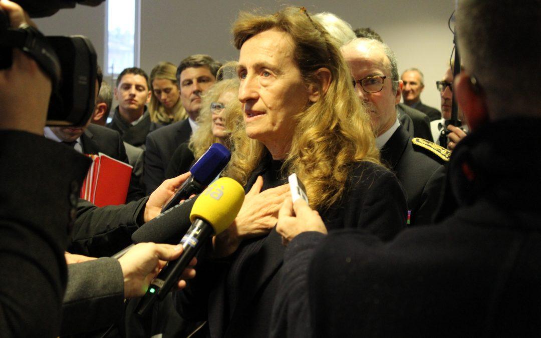 Nicole Belloubet garde des Sceaux en visite à Toulouse - Crédit photo : Israa Lizati