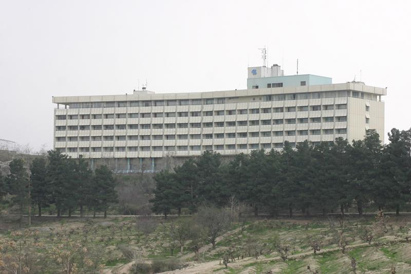 L'hôtel Intercontinental de Kaboul, attaqué par les Talibans.