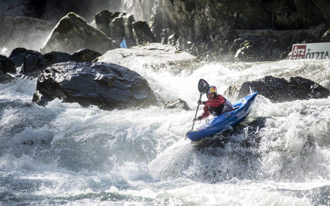 Nouria Newman, championne de kayak. Crédit : Dean Treml / Red Bull Content Pool