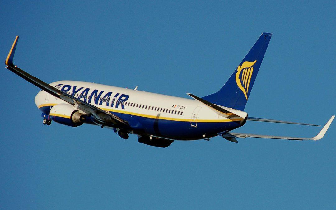 Ryanair Boeing 737-800. Crédit : CC