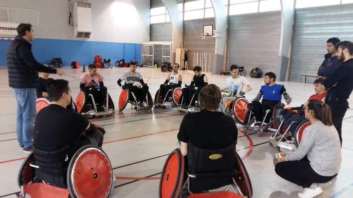 Le Stade Toulousain quad rugby est champion de France 2017. Crédit photo : Rémi Salvayre