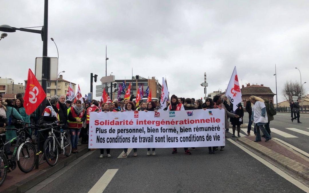 Mobilisation nationale des EHPAD. Crédit : Mélodie Fourcade