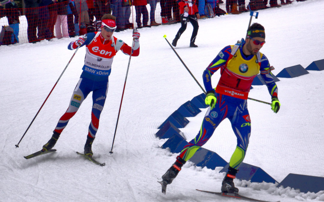 Martin Fourcade remporte l'or à la poursuite./ Google image