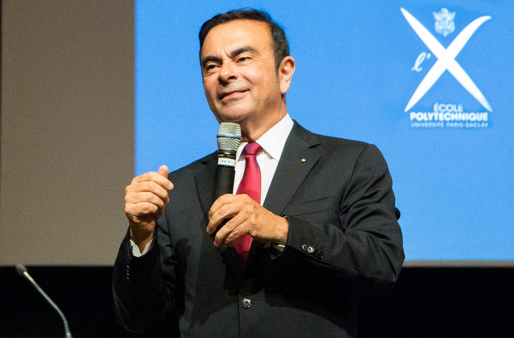 Carlos Ghosn quitte le groupe Renault. Crédits : Flickr