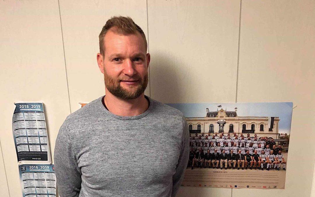 Jamie Noon, ex-rugbyman professionnel anglais, sans les locaux de Sport Session / Crédits : Clothilde Doumenc