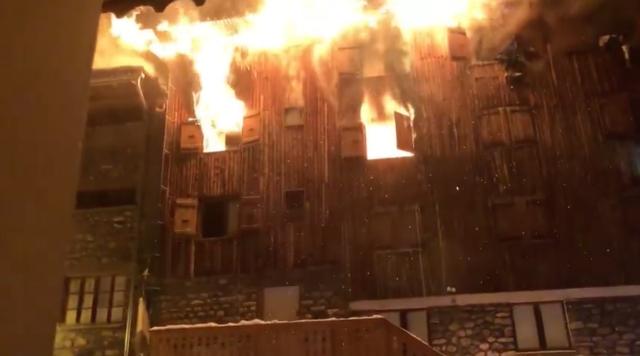 Incendie à Courchevel (Savoie) / Crédits : Capture d'écran Facebook