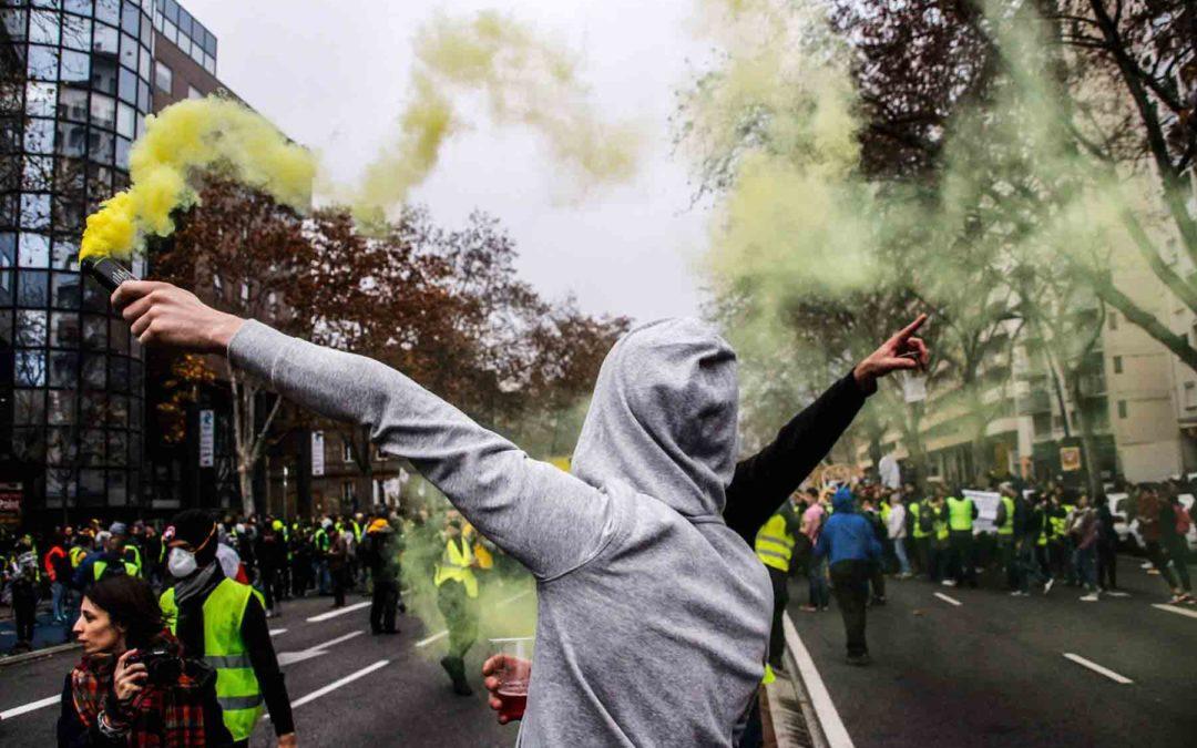 Rassemblement des Gilets Jaunes à Toulouse  / Crédit : Léo Couffin