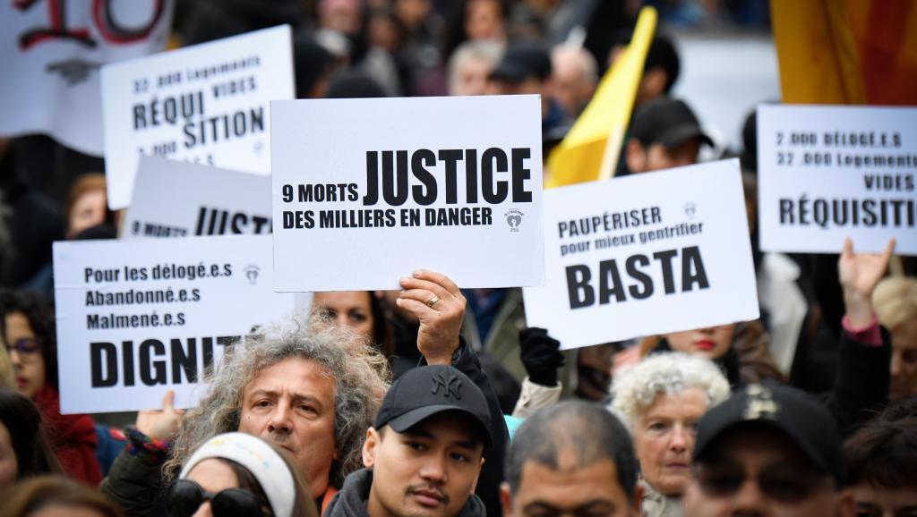 Des manifestants dans les rues de Marseille, samedi 2 février 2019 / Gérard Julien AFP