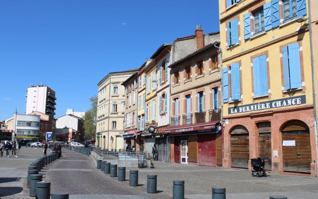 La place semi-piétonne Arnaud Bernard / Crédits : Justine Seguin