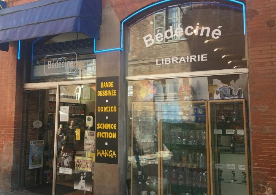 La boutique Bédéciné, en plein coeur de Toulouse