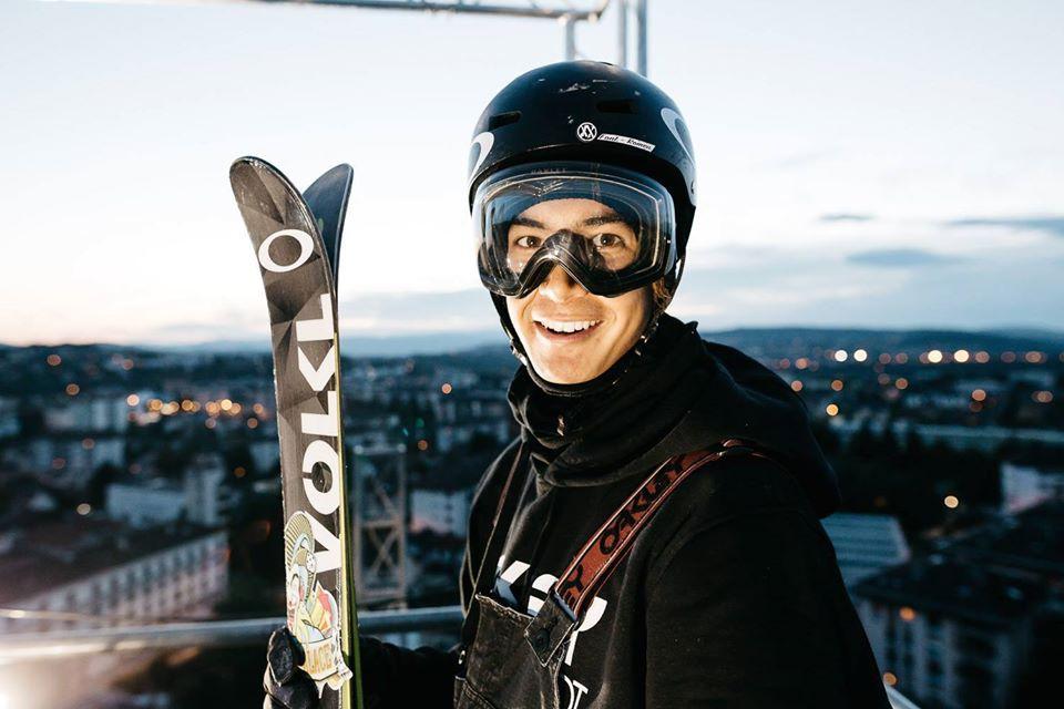 Vince et son sourire reconaissable en haut du Big Air - David Malacrida