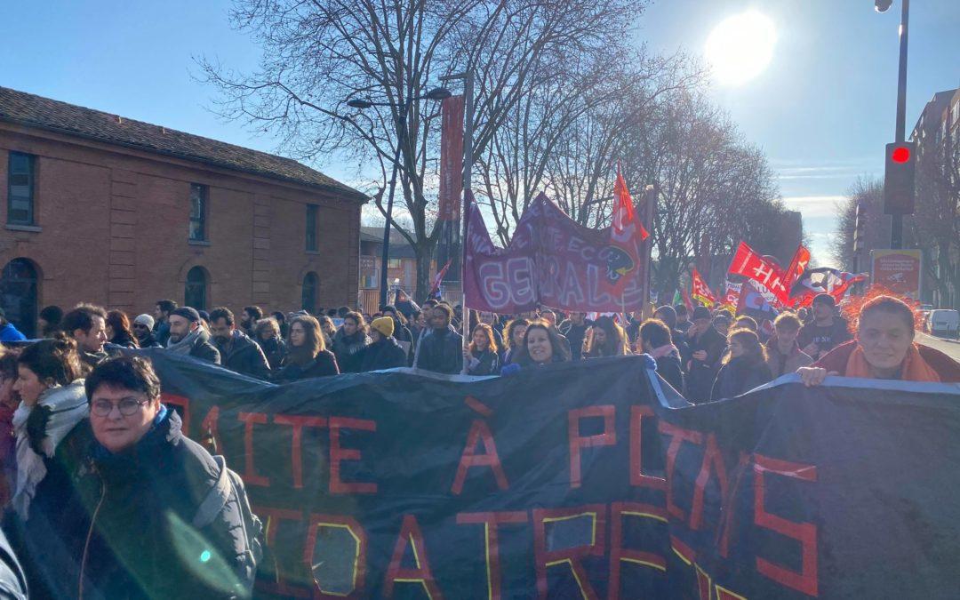 Cortège de la manifestation du 14 janvier / Crédits : Germain Chartier