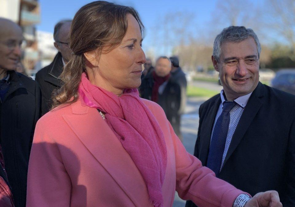 Ségolène Royal et André Mandement visite un quartier écoresponsable / Crédits : Romain Luspot