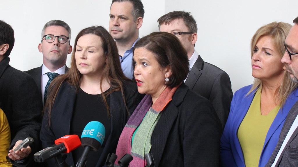 Mary Lou McDonald est arrivé en en tête des élections législatives avec le Sinn Fein. Crédit Flckr