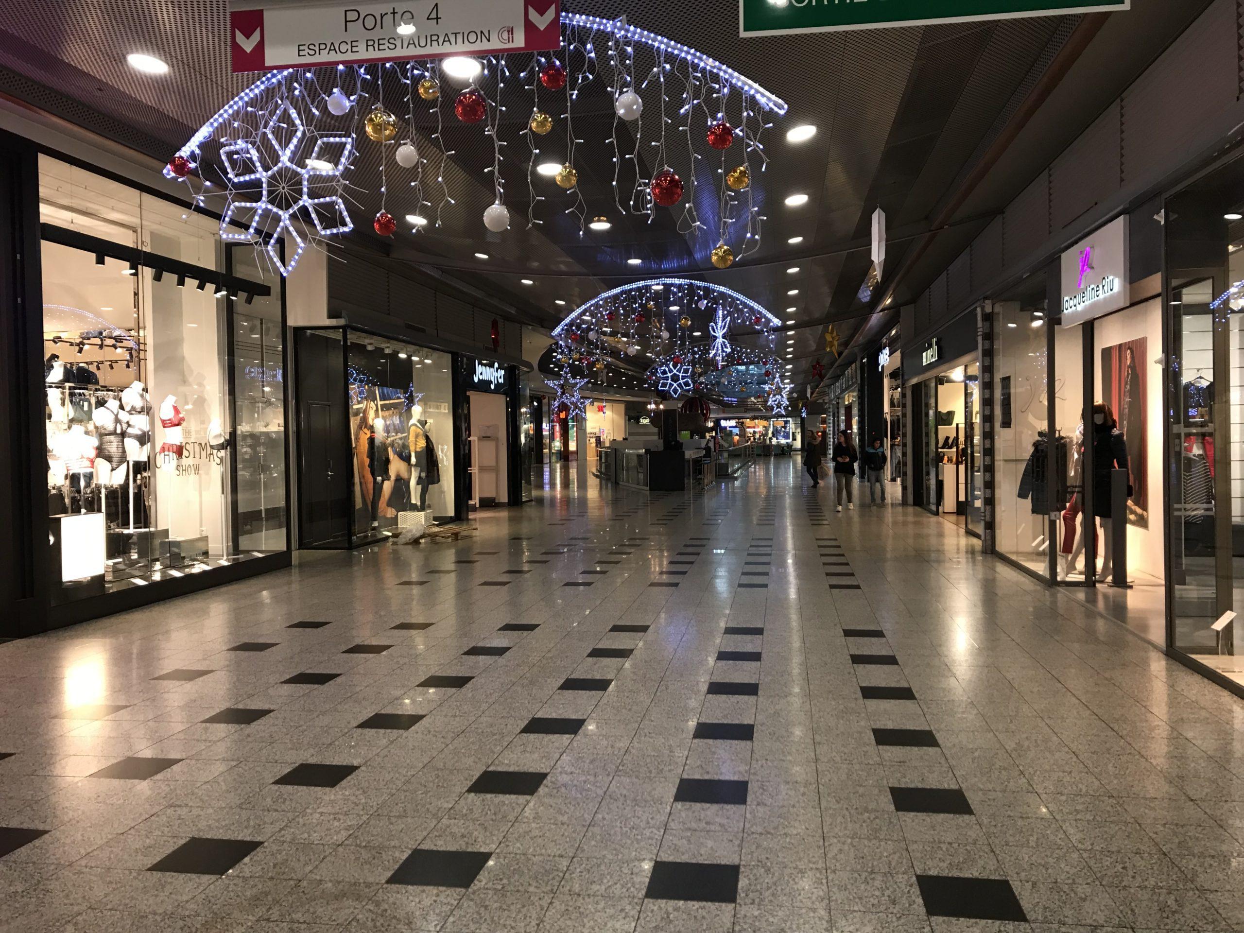 Le centre commercial de Blagnac, vide. Crédit : Melvin Gardet