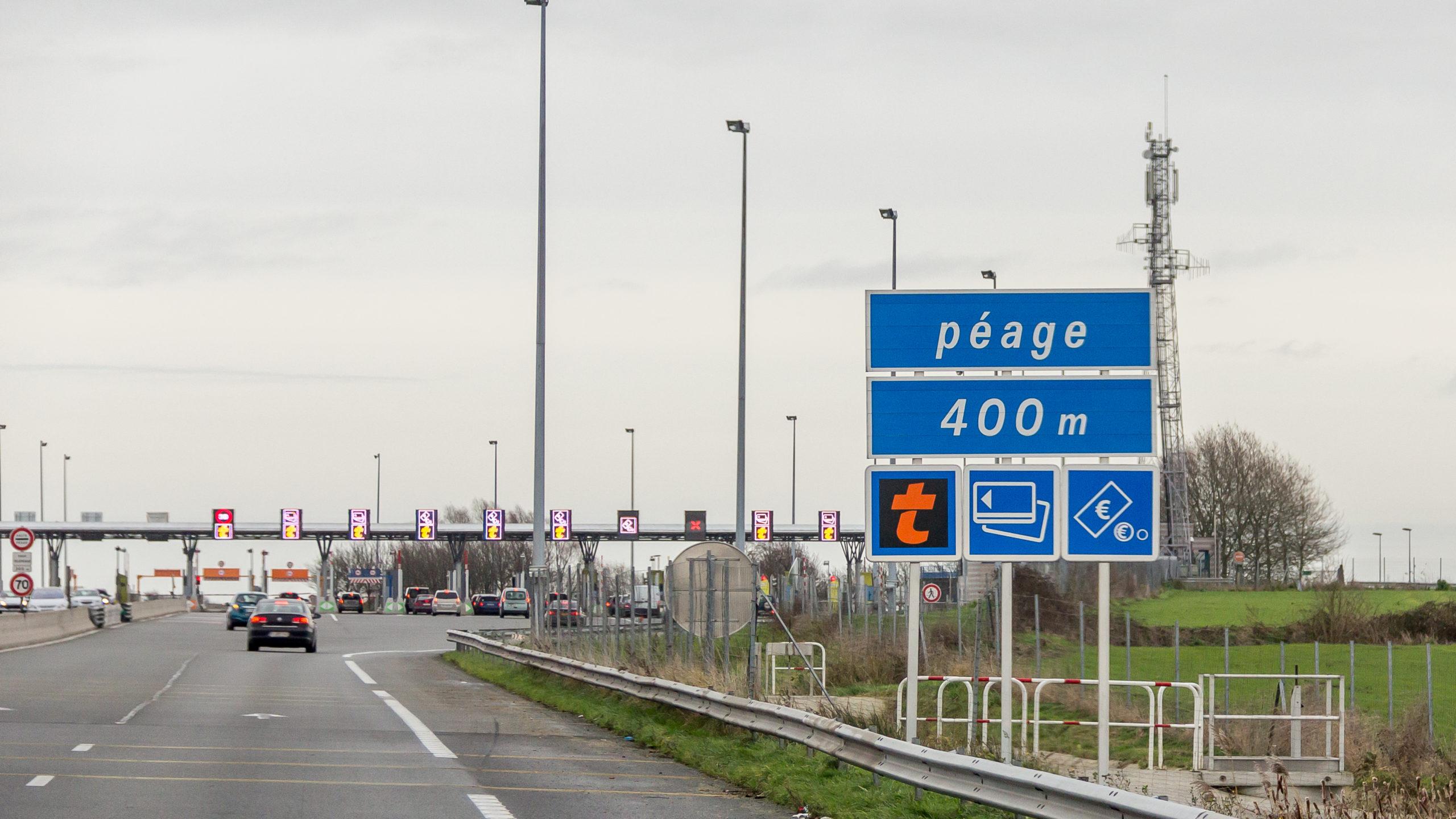 Autoroute A2 - Barrière de péage de Hordain