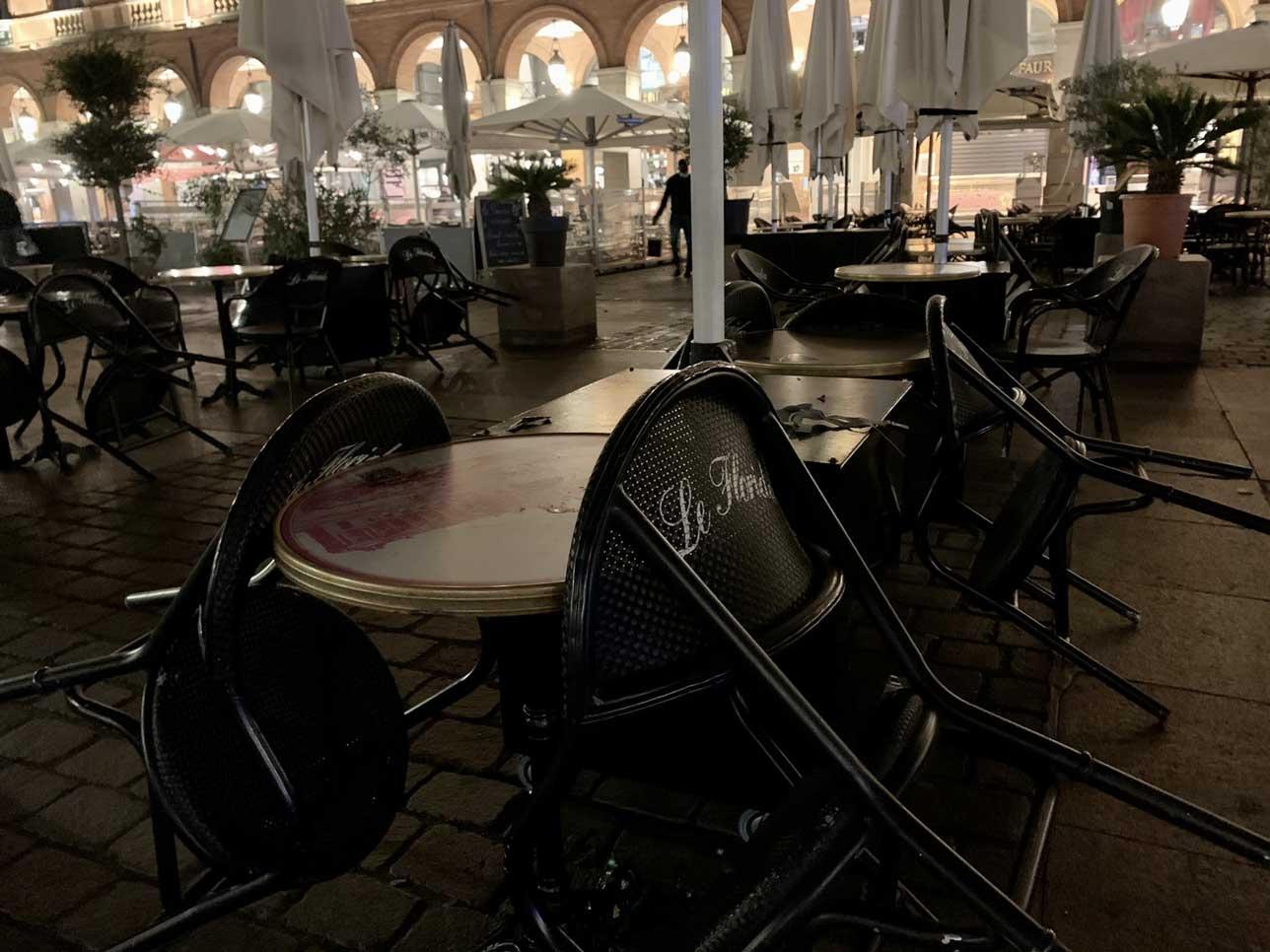 Les restaurants sont contraints de fermer depuis plusieurs mois, malgré une bouffée d'air frais dans l'été. Crédit : Guillaume Pannetier
