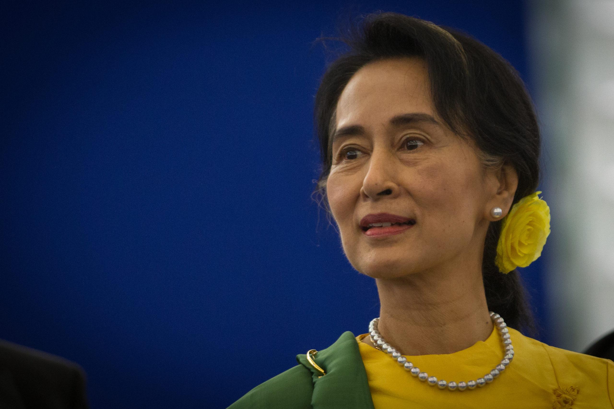 Aung Saan Suu Kyi, dirigeante de Birmanie, arrêtée ce matin. Crédit - CC